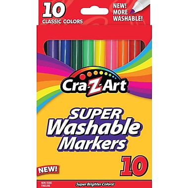 Cra-Z-Art Classic Super Washable Fineline Markers, 10/Pack