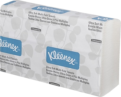 Kleenex® Ultra Soft Multi-Fold Paper Towels, 2-Ply, 150 Sheets/Pack, 2400 Sheets/Carton (43752)