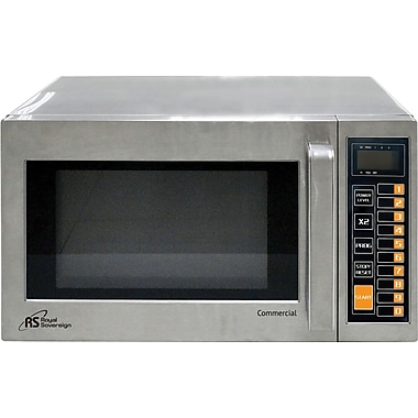 Royal Sovereign® Commercial Microwave, 1000 Watt, 0.9 cu.ft., Stainless Steel