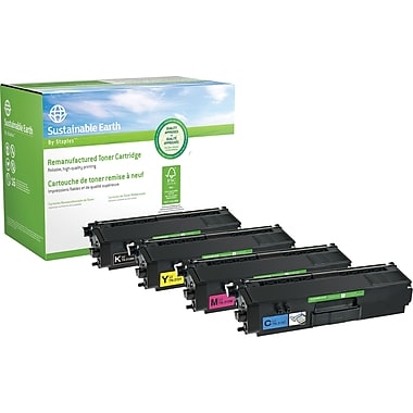 Sustainable Earth by Staples® Remanufactured BCMY Toner Cartridge, Brother TN-315 High-Yield, 4-pack