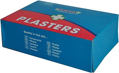 Astroplast Blue Band Aids Assorted & Shaped 150 Units (M2CWC14038)