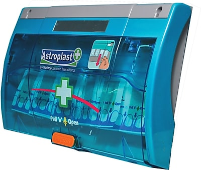 Astroplast Twist n Open Blue Band Aids Dispenser, 60 units