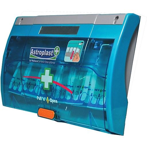 Astroplast Twist n Open Blue Band Aids Dispenser, 60 units