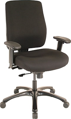 Tempur-Pedic TP4100 Fabric Computer and Desk Office Chair, Adjustable Arms, Black (TP4100-RAV)