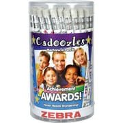 Zebra Pen Cadoozles Awards Mechanical Pencil Assorted Designs, 0.9mm Bold Point, 72pc Cup