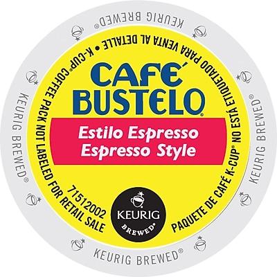 Café Bustelo® Espresso Regular Coffee, Keurig® K-Cup® Pods, Medium Roast Coffee, 24/Box (2668)