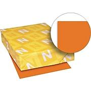 Exact Brights Paper, 8 1/2 x 11, Bright Tangerine, 20 Lb., 500 Sheets/ream