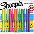 Sharpie Pocket Stick Highlighter, Chisel Tip, Assorted Colors, Dozen (27145)