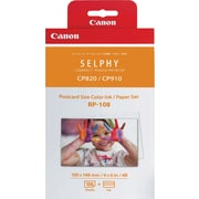 "Canon RP-108 High-Capacity Color Ink/Paper Set, 4"" x 6"", 108 sheets"