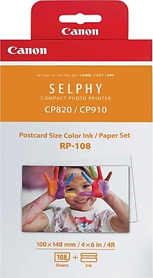 Canon RP-108 High-Capacity Color Ink/Paper Set, 4