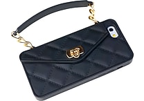 Shark Tank® Pursecase Phone Protector For Iphone 5/5S/5C, Silicone, Black With Champagne