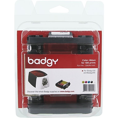 BADGY100/200 COLOR RIBBON FOR 100 PRINTS