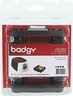 Badgy 100/200 Color Ribbon for 100 Prints, YMCKO