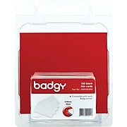 Badgy Blank Thin PVC Cards, White