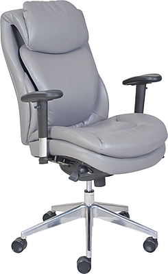 Serta® Wellness by Design Air™ Commercial Series -200 Task Chair; Puresoft® Faux Leather, Grey