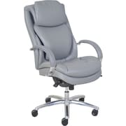 Serta Air Faux Leather Computer and Desk Office Chair, Fixed Arms, Gray (45451)