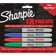Sharpie Extreme Permanent Fine Markers, Assorted, 4/Pack