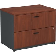 Bush Business Cubix 36W 2Dwr Lateral File, Hansen Cherry/Galaxy