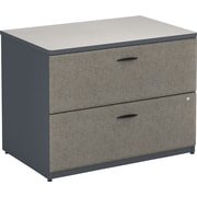 Bush Business Cubix 36W 2Dwr Lateral File, Slate/White Spectrum