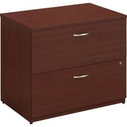 Bush Business Furniture Westfield 36W 2 Drawer Lateral File Cabinet, Mahogany (WC36754C)