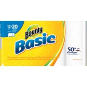 Bounty® Basic Select-A-Size Mega Roll Paper Towels, 119 Count, 12 Rolls/Case (92975)
