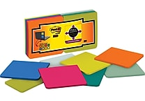 Post-it® Super Sticky Full Adhesive Notes, 3' x 3', Assorted Colors, 16 Pads/Pack (F330-16SSMX)