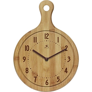 Infinity Instruments Bon Appetit Wall Clock, Bamboo (14491BB-1263)