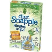 Snapple Iced Tea Singles To-Go, Diet Green Tea, 0.25 oz Stick, 72 sticks