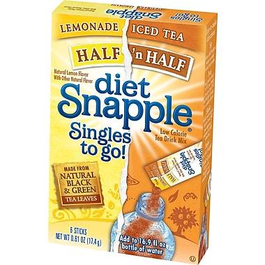 Snapple Iced Tea Singles To-Go, Diet Half 'n Half, 0.61 oz Stick, 72 sticks