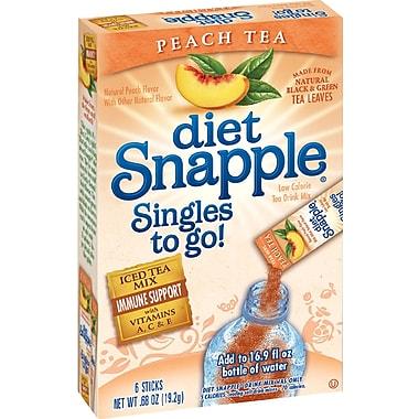 Snapple Iced Tea Singles To-Go, Diet Peach Tea, 0.68 oz Stick, 72 sticks