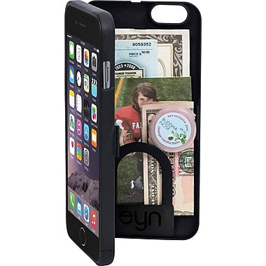 EYN Smartphone Cases for iPhone 6+ with Hidden Storage, Mirror & Kickstand