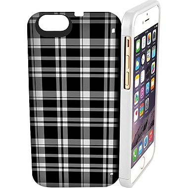 EYN Smartphone Case for iPhone 6 with Hidden Storage, Mirror & Kickstand, Black and White