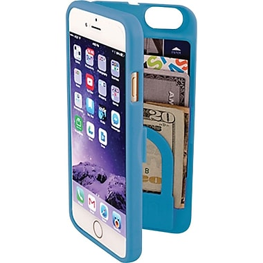EYN Smartphone Case for iPhone 6 with Hidden Storage, Mirror & Kickstand, Turquoise