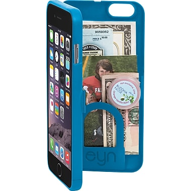 EYN Smartphone Case for iPhone 6+ with Hidden Storage, Mirror & Kickstand, Turquoise