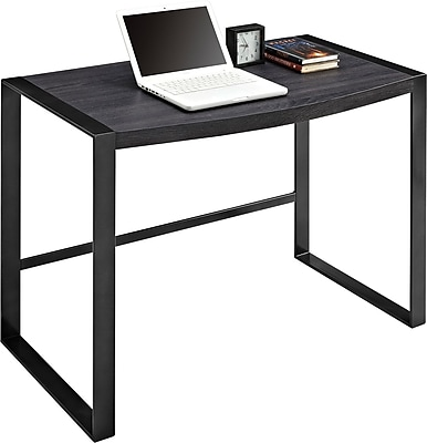 sonoma ridge writing desk rustic laminate gun metal staples rh staples com staples desk writing pad Staples Computer Desks
