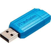 Verbatim PinStripe 16GB USB Flash Drive, Caribbean Blue