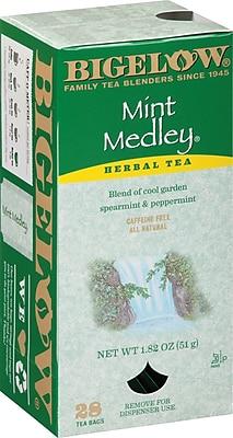 Bigelow® Mint Medley Herb Tea, Decaffeinated, 28 Tea Bags/Box