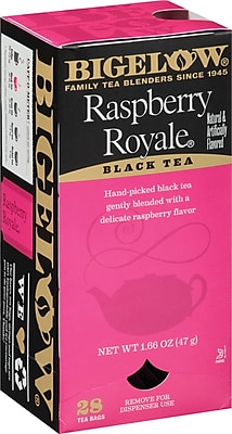 Bigelow® Raspberry Royale Tea, Regular, 28 Tea Bags/Box
