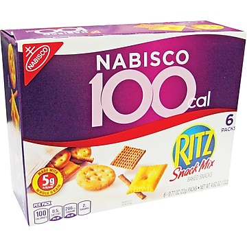 Kraft Nabisco 100 Calorie Pack Ritz Snack Mix, .77 oz. bags, 6/Bx (723963 BBD00609) photo