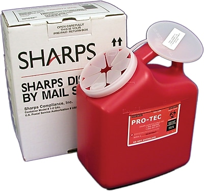 Sharps Compliance Disposal By Mail System®, 2-Gallon