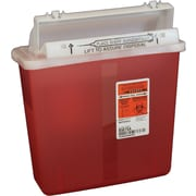 Kendall/Covidien Sharps Containers; 5 Quart, Transparent Red