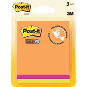 """Post-it® Super Sticky Notes, Rio de Janeiro Collection, 3"""" x 3"""", 3 pads/pack"""