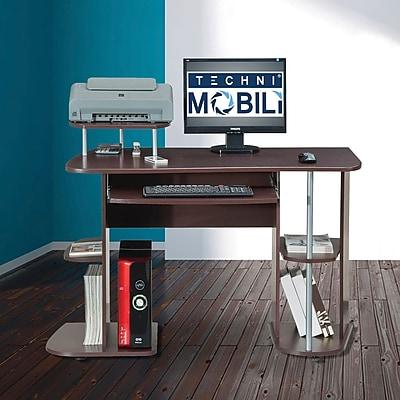 Techni Mobili Computer Workstation with Storage, Chocolate