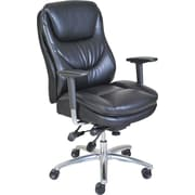 Serta Smart Layers Faux Leather Computer and Desk Office Chair, Fixed Arms, Black (45421)