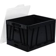 Storex - Caisse pliante, format lettre/légal, noir
