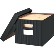 Bankers Box® - Boîtes de rangement décoratives, milleraies, paq./2