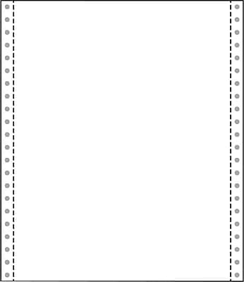 """Printworks® Professional 20 lbs. Blank Computer Paper, 9 1/2"""" x 11"""", White, 2500 Sheets"""