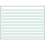 "Printworks® Professional Recycled Computer Paper W/1/2"" Green Bar, 14 7/8"" x 11"", White, 2200 Sheets"