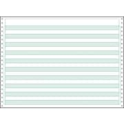 "Printworks® Professional 2 Part Computer Paper W/1/2"" Green Bar, 14 7/8"" x 11"", White, 1500 Sheets"