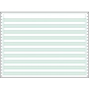 "Printworks® Professional 4 Part Computer Paper W/1/2"" Green Bar, 14 7/8"" x 11"", White, 800 Sheets"